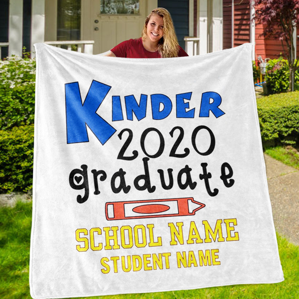 Personalized Graduation Fleece Blanket for Class Of 2020 XXVI