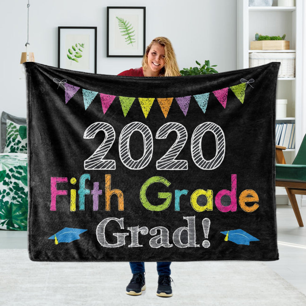 Personalized Graduation Fleece Blanket for Class Of 2020 XXVII