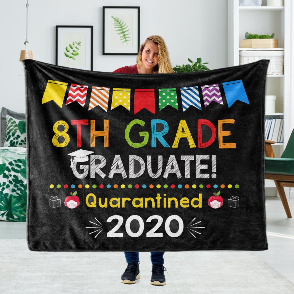 Personalized Graduation Fleece Blanket for Class Of 2020 XXVIII