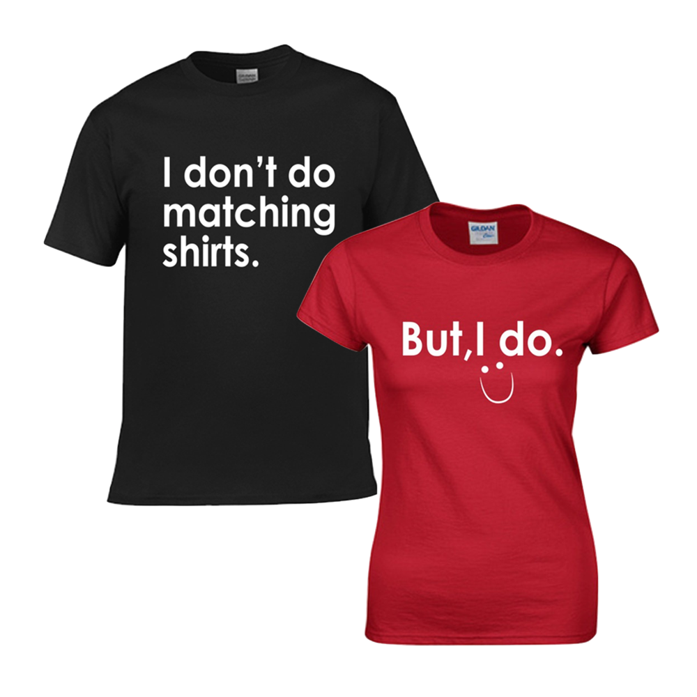 We do matching shirts—Couple TShirts