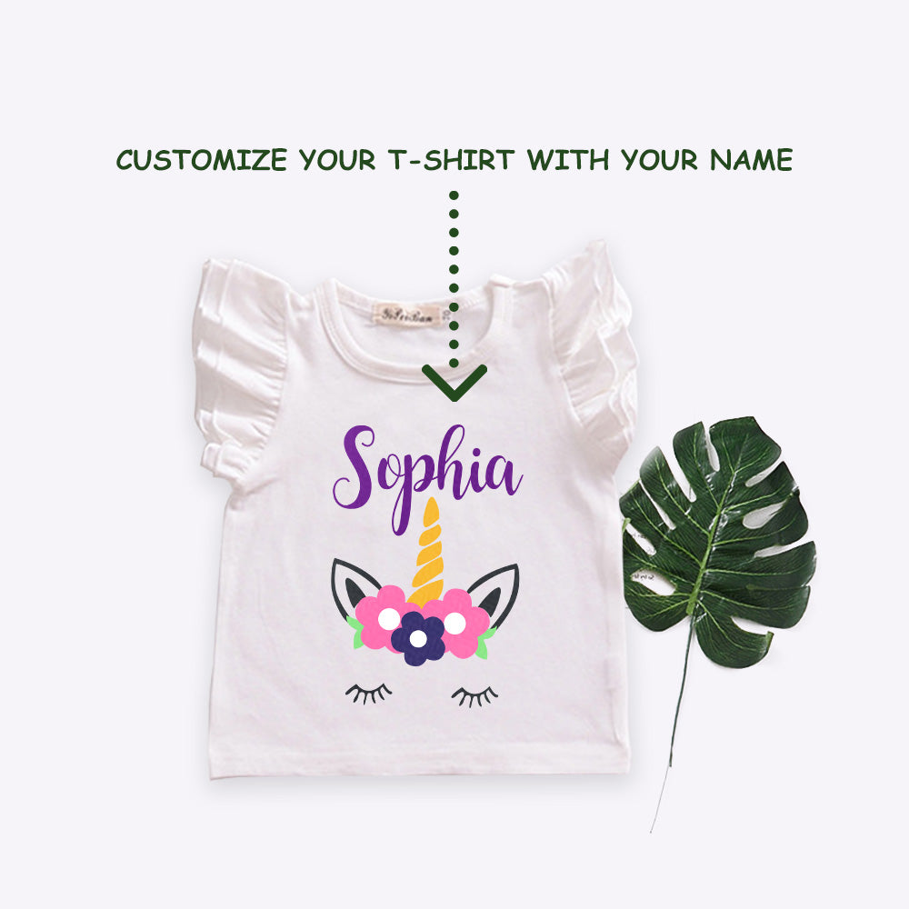 Personalized Magic Unicorn T-Shirt