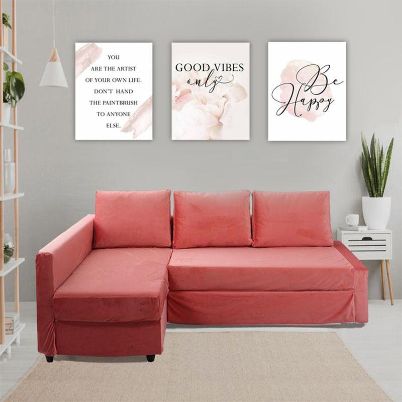 GOOD VIBES ONLY Canvas Art Set, Family Canvas Art Set