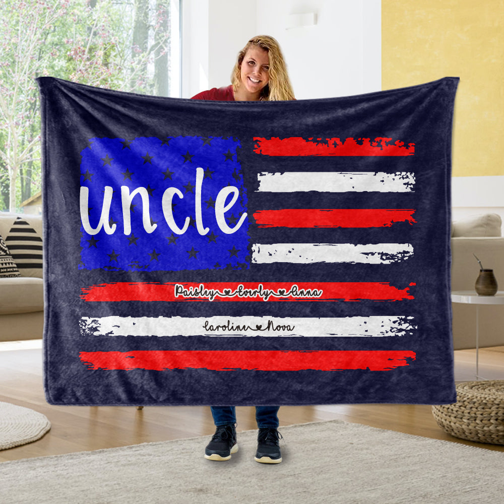 Personalized Fleece Blanket with Title & Kids' Names