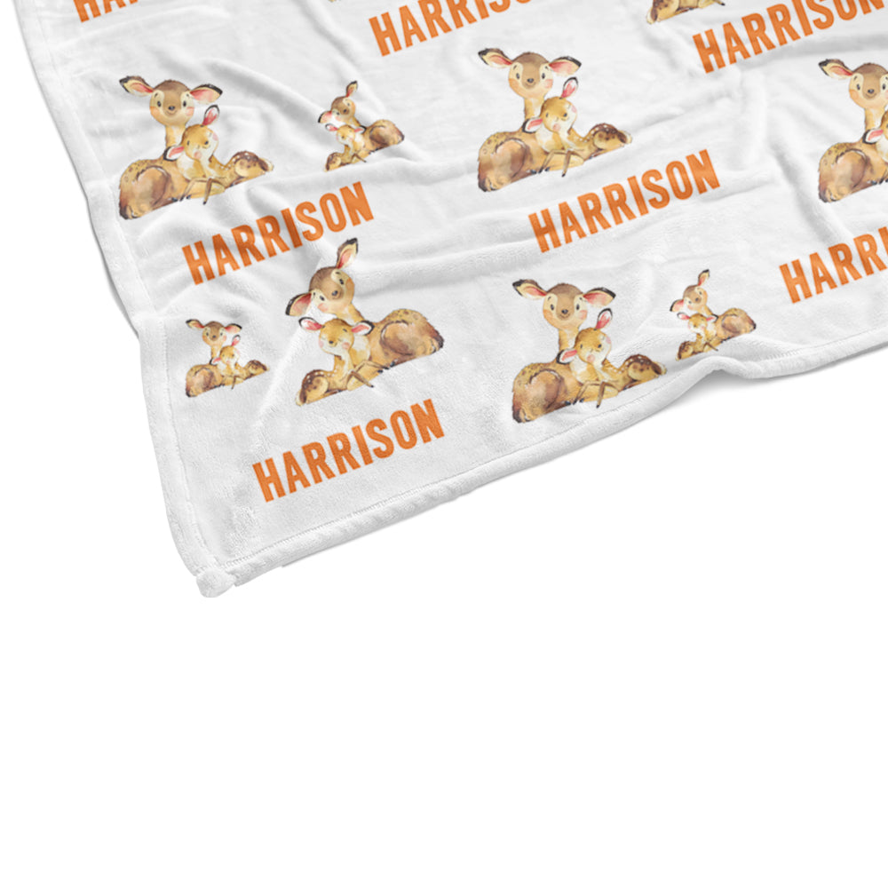 Personalized Name Deer Fleece Blankets - BUY 2 SAVE 10%