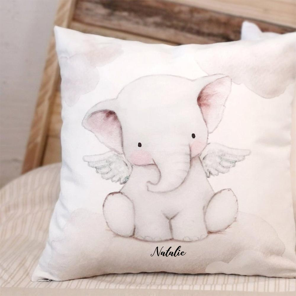 Personalized Baby Girl Elephant Name Pillow, Personalized Baby Girl Lovey Pillow, Custom Baby Girl Pillow, Personalized Baby Girl Elephant Pillow