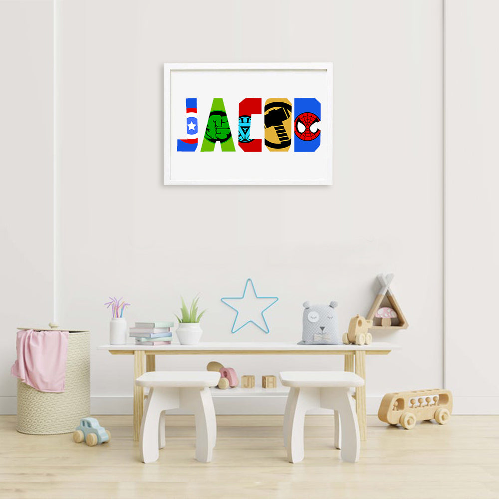 Custom Name Canvas Print For Kid's Room