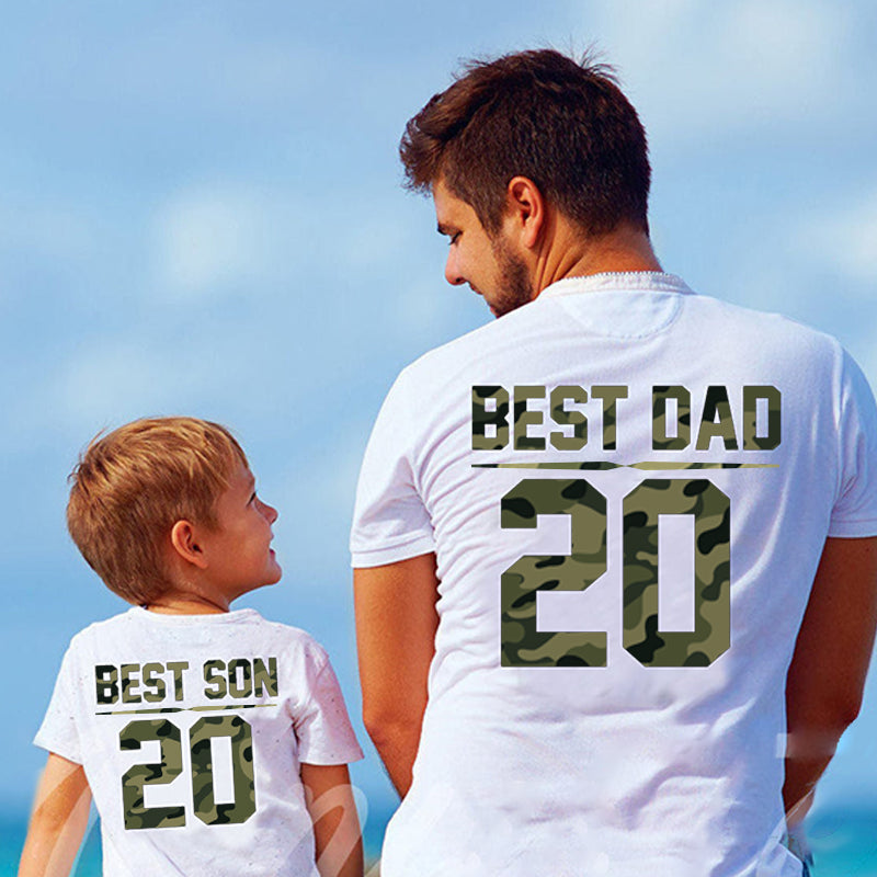 Personalized Best Dad Matching T-shirts and Onesies