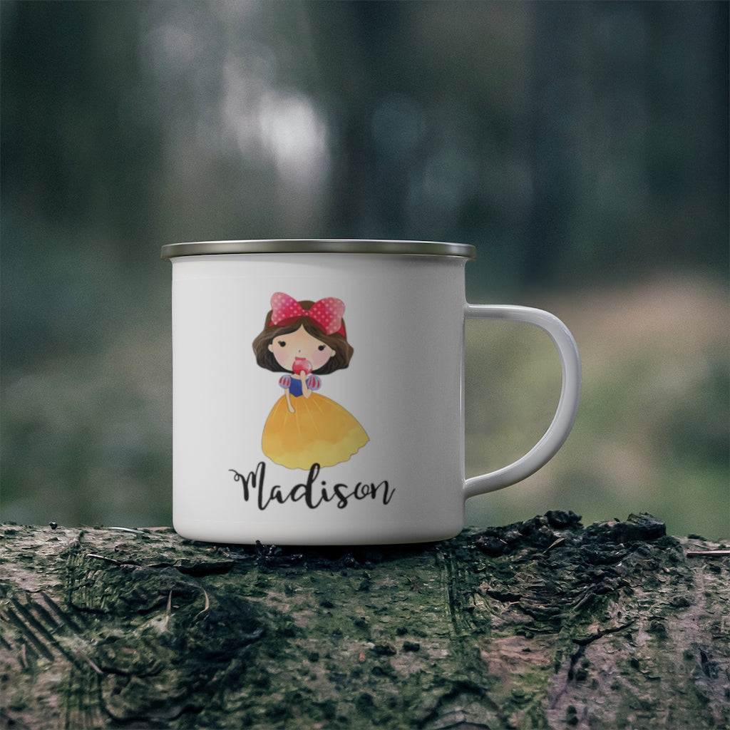 Personalized Name Princess Kid's Enamel Campfire Mug III-Made in USA