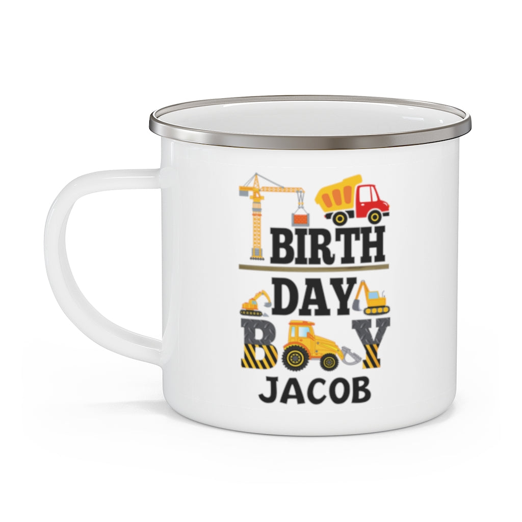 Custom Name Children's Birthday Enamel Campfire Mug II