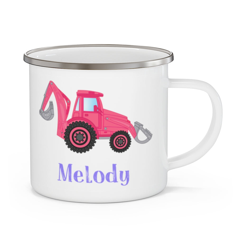 Custom Name Truck Children's Enamel Campfire Mug XV