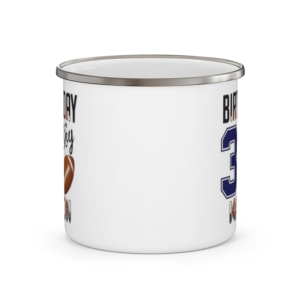 Custom Name Sport Children's Birthday Enamel Campfire Mug