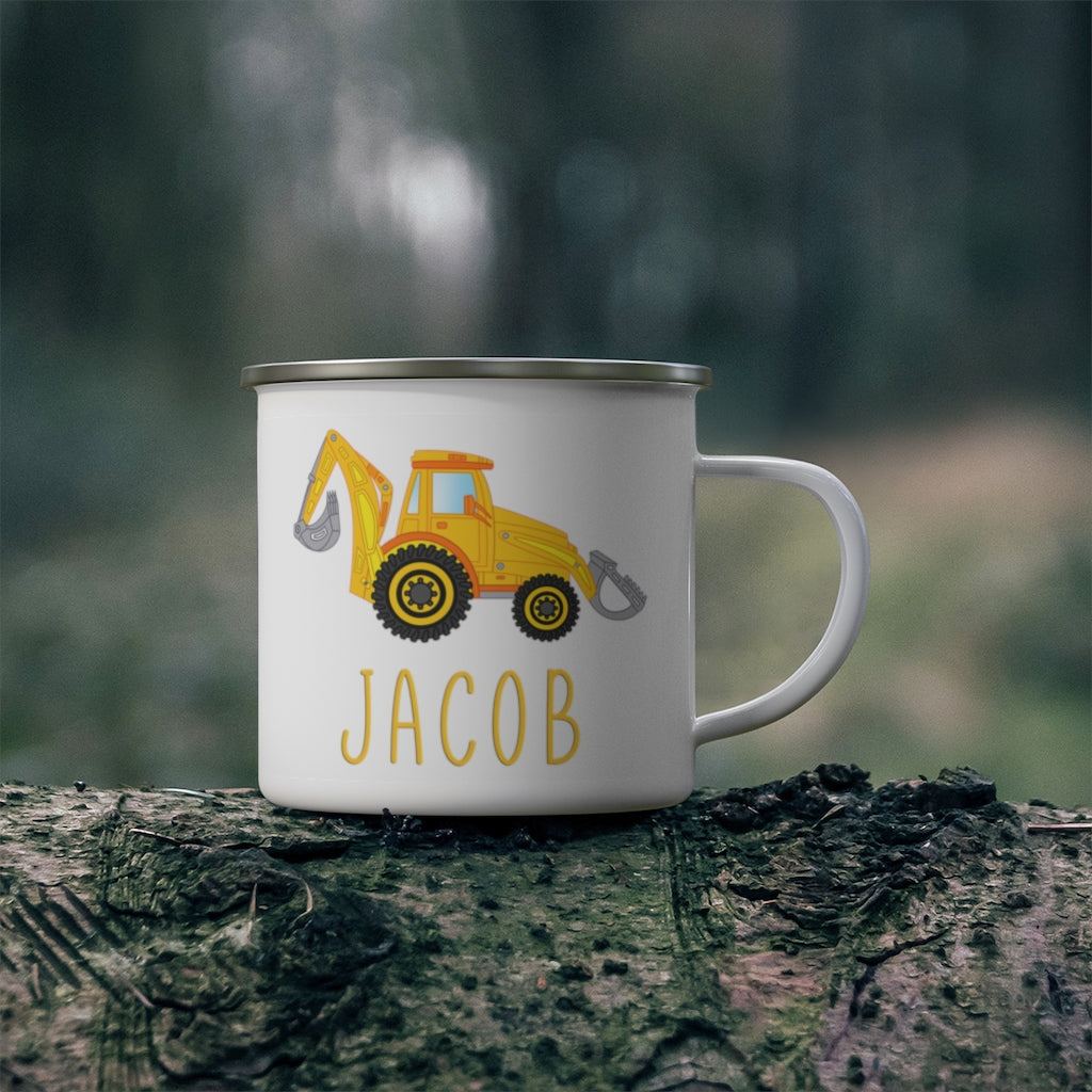 Custom Name Truck Children's Enamel Campfire Mug VIII