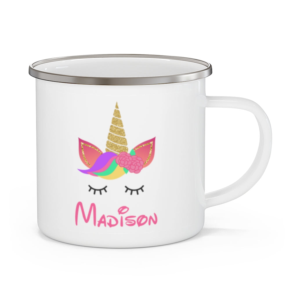 Custom Name Unicorn Enamel Campfire Mug Ⅷ