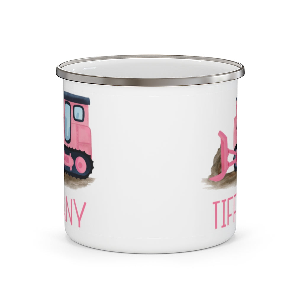 Custom Name Truck Children's Enamel Campfire Mug XIX