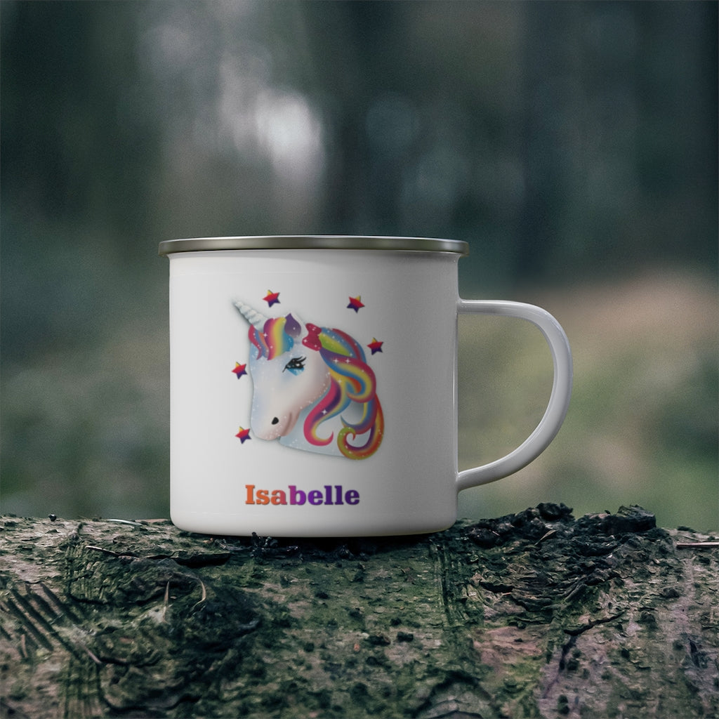 Custom Name Unicorn Enamel Campfire Mug Ⅵ
