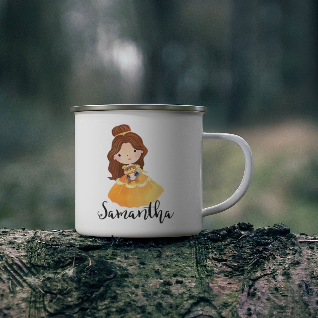 Personalized Name Princess Kid's Enamel Campfire Mug VI-Made in USA