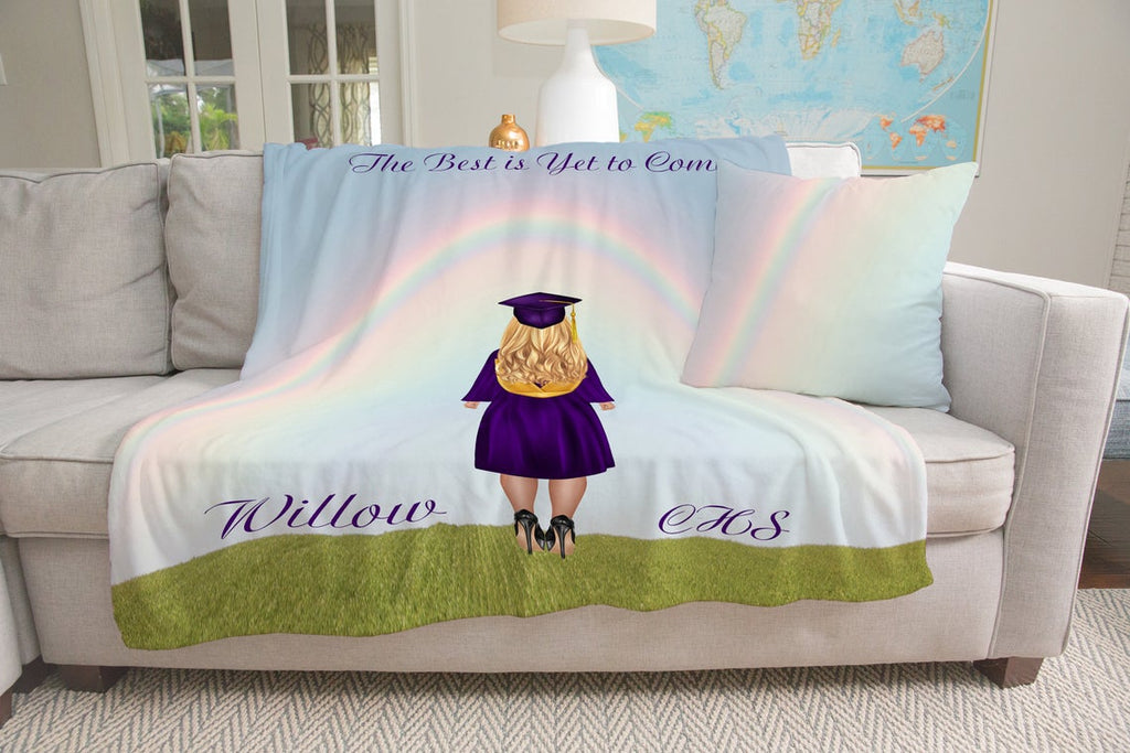 Personalized Graduation Fleece Blanket for Class Of 2020 IX