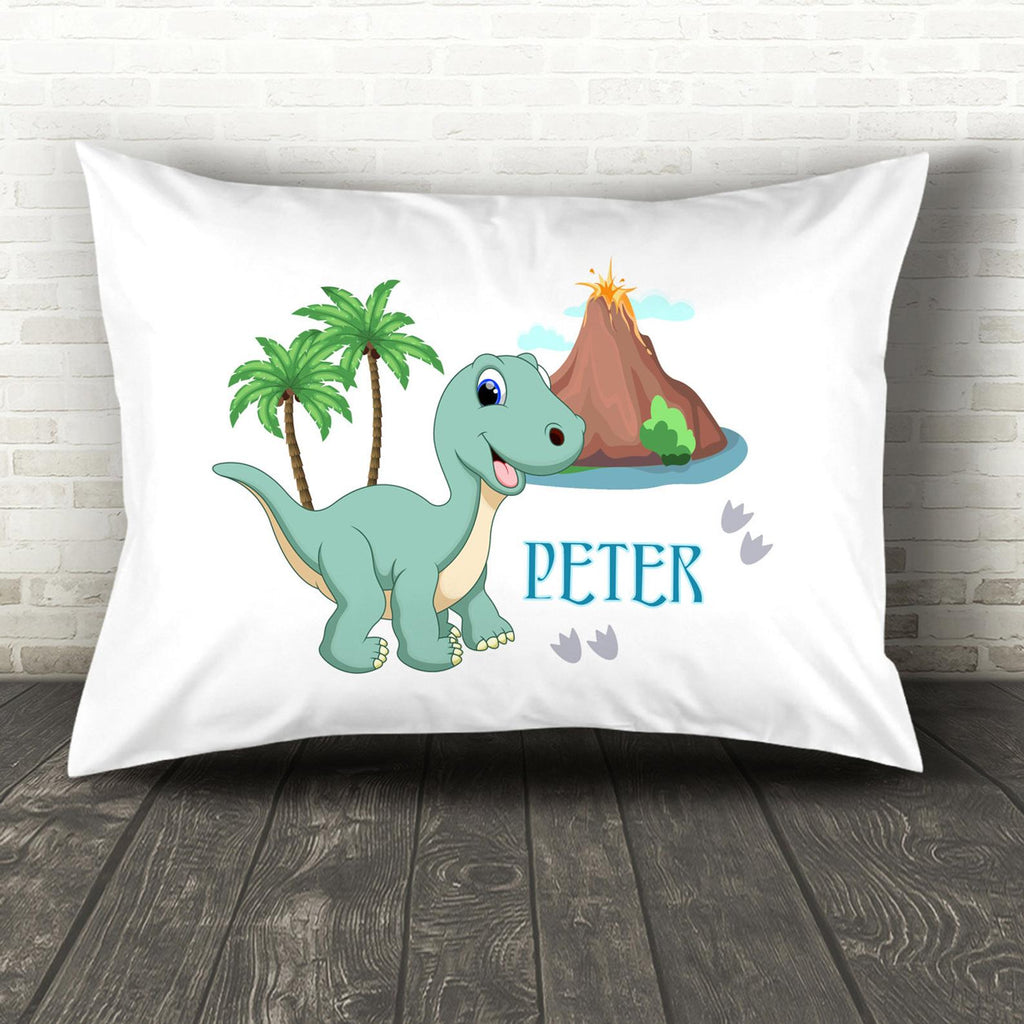 Custom Dinosaur Pillow With Name, Custom Throw Pillow, Personalized Dinosaur Throw Pillow