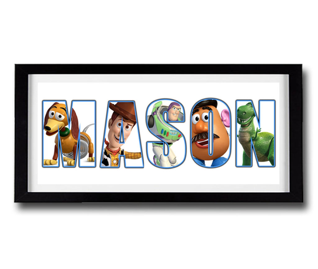 Custom TOY STORY Personalised Name Print