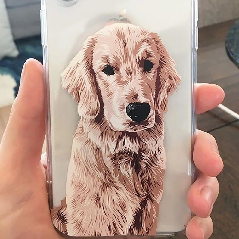 Custom Pet illustrated Hand Drawn iPhone Case/ Photo Phone Case