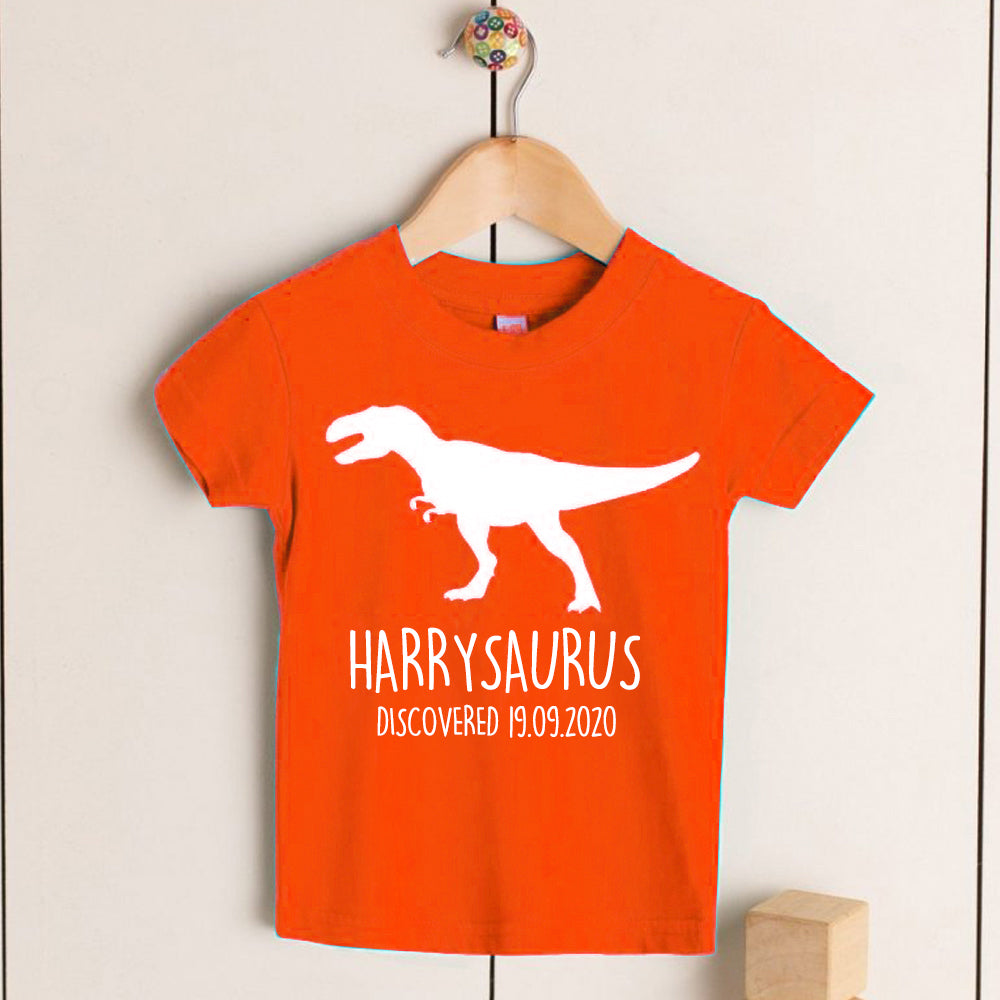 Personalised T-Rex Kids Dinosaur T-Shirt