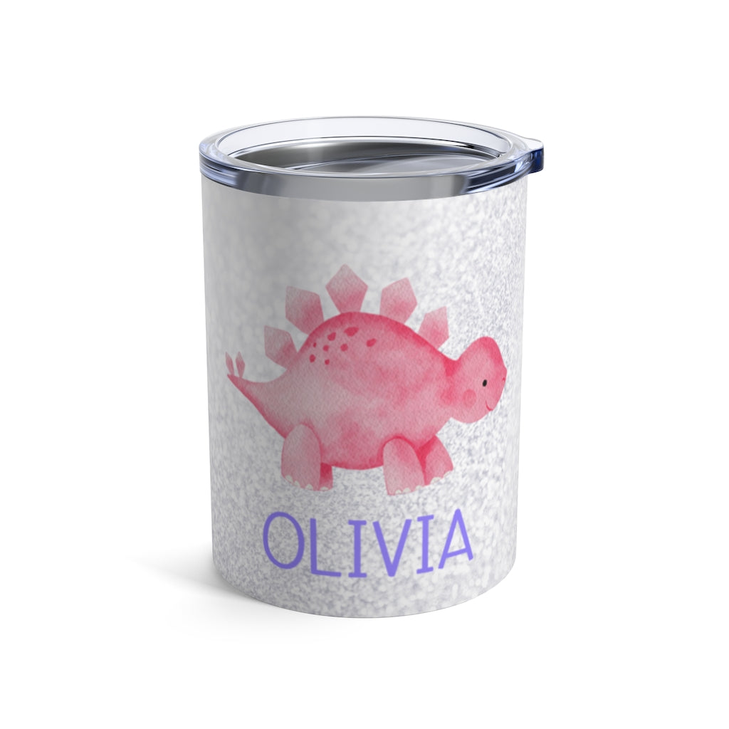 Custom Name Dinosaur Children's Travel Drink Tumbler 10oz Ⅺ