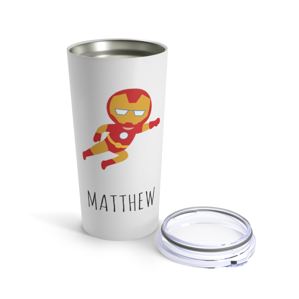 Personalized Hero Stainless Steel Tumbler 20oz With Name Ⅱ - Made in USA