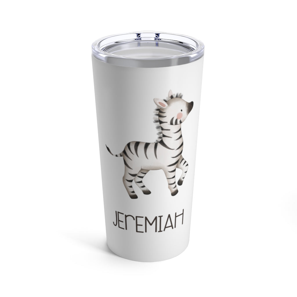 Personalized Animal Stainless Steel Tumbler 20oz With Name V - Made in USA