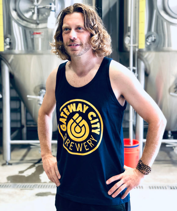 Men's Tank Top - Navy/Yellow