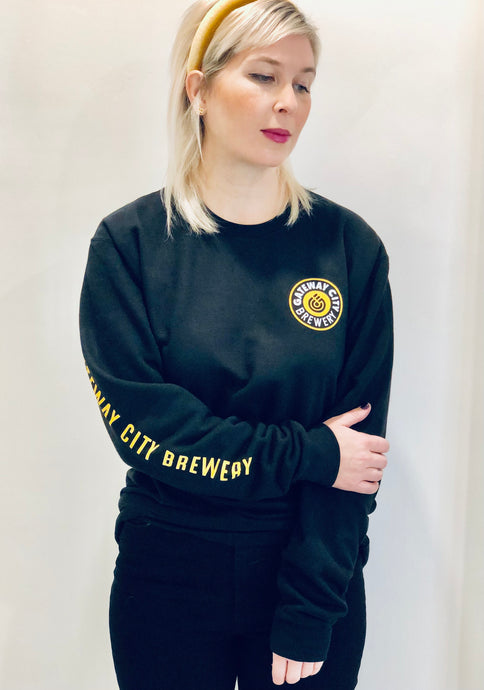 Unisex Crew Neck Sweater - Black/Gold