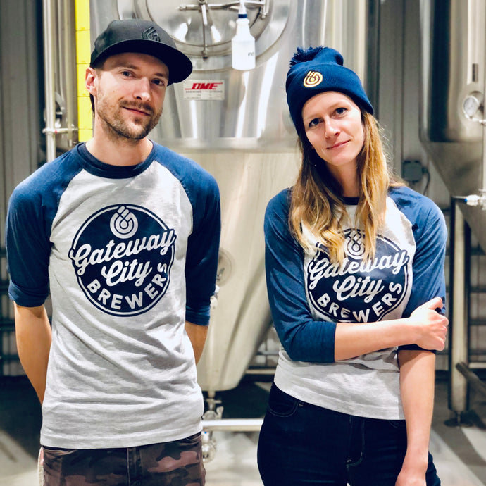 Unisex Brewers Baseball Tee - Grey/Navy
