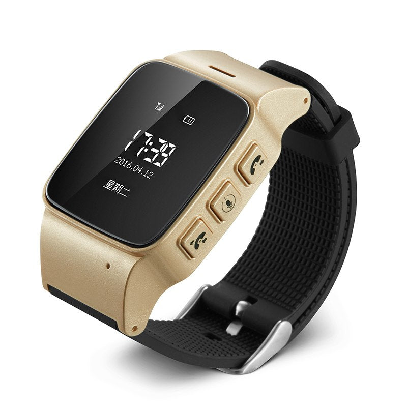 Family Health Anti Lost D99 10PCS/lot Elderly Smart Watch GPS Wifi Mini  Tracking Watch for birthday present Grandmother grandfather