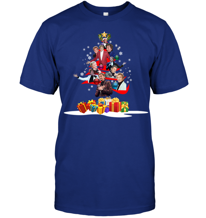 Barry Manilow Christmas Tree Shirt - AwesomeTeeGifts
