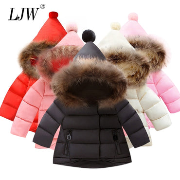 Fashion Baby Boys Jackets Fur collar Autumn Winter Kids Warm Hoodies Jacket Children Outerwear girl Coat Boys Girls Clothe
