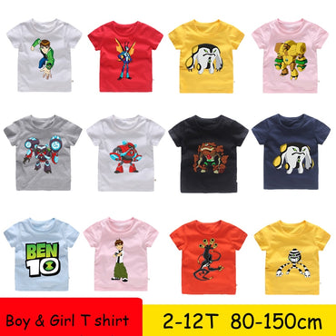 Boys Girls New Omnitrix Ben  cartoon 10 Kids T Shirt Genuine Children T-shirt Baby Toddler Summer Tops Anime Cartoon Tees