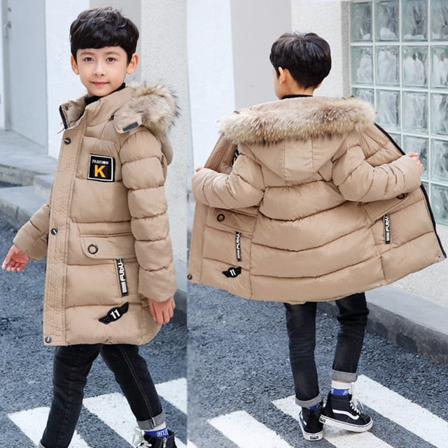 2019 New Winter Clothing Boys 4 Keep Warm 5 Children 6 Autumn Winter 9 Coat 8 Middle Aged 10 Year 12 Pile Thicker Cotton Jacket