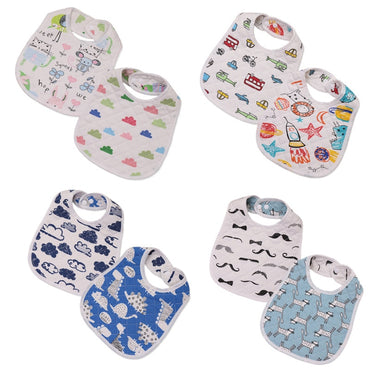 30*22.5cm New Infant Baby Girl Boy Bib Kid Toddler Dinner Food Feeding Bibs Double-deck 100% Cotton Burp Cloths Saliva Towel
