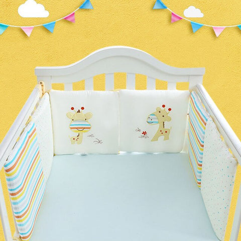 6Pcs/Lot Baby Bed Protector Crib Bumper Pads Baby Bed Bumper in the Crib Cot Bumper Safety Cotton Blend Baby Bedding Set Rail