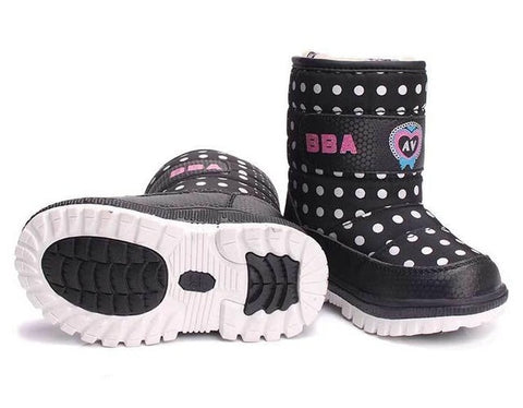Children 's Boots For Girls more than Boys wool styles Boots waterproof Girls boot sport shoes fur lining kids shoes sell at