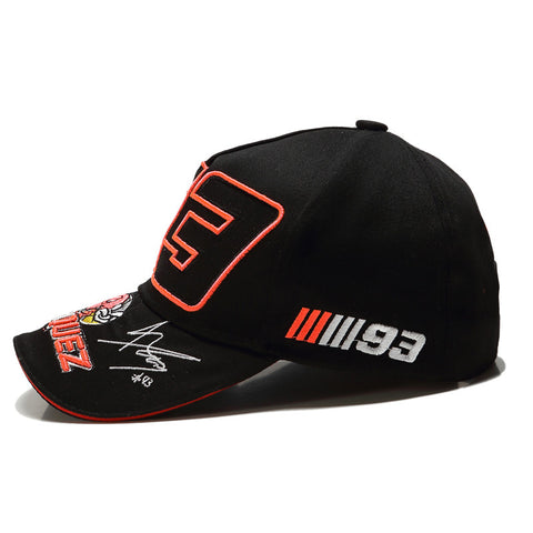 Foreign Trade Ants Embroidered 93 Hat F1 Racing Cap Baseball Cap Duckbill Hat Moto. Gp Outdoor Sports mo tuo mao