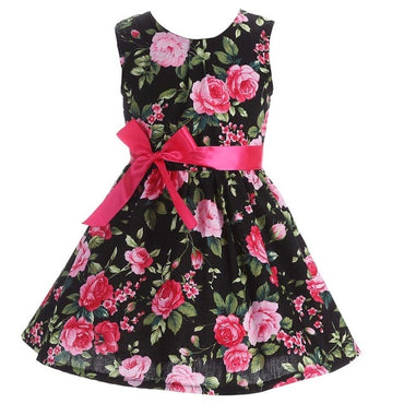 Floral Children Baby Dresses Girl Wedding Party;Princess 1 Year Birthday Girls Dress Cotton Summer 2017 Teenage Vestido Infantil