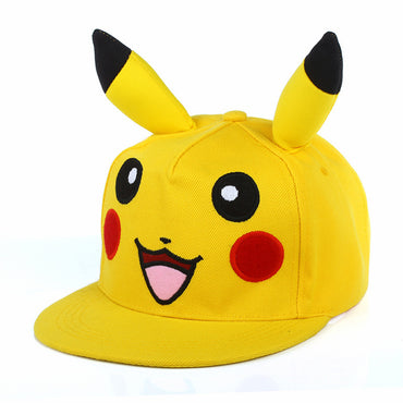 Japanese Cartoon Animation Cute Lovely Pikachu Pokemon Flat IR Snapback hats & Caps dad Hat for Men Women baseball cap boy bone