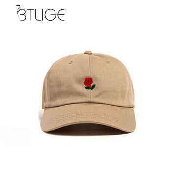BTLIGE Women Men Hundreds Dad Hat Flower Rose Embroidered Curved Brim Baseball Cap Visor Hat Clothing Accessories