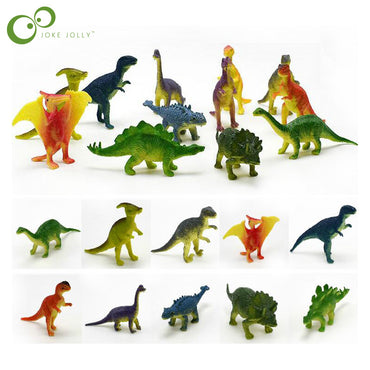 12pcs/lot Dinosaurs Model Cute Animals Gifts Boys Toys Hobbies Kids Mini Small Plastic Dinosaurus Figures GYH