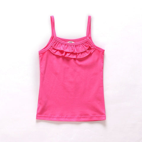 New Summer Girls T Shirt Cotton Sleeveless Garment T Shirt For Girls Tops Tees Outwear Clothing Baby Kids Clothes 2-8 Year