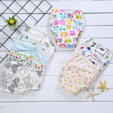 Pure coCute Baby Diapers Reusable Nappies Cloth Diaper Washable Infants Children Baby Cotton Training Pants Panties Nappy