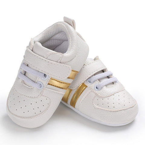 New Casual Newborn Baby Boy Girl Soft Sole Crib Shoes Anti-slip Sneakers Prewalker 1Pair US