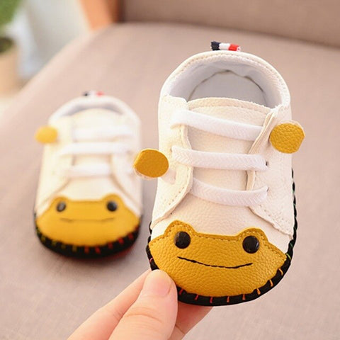 Baby Boys Girls First Walkers Spring Autumn New Small Frog Sewing Bag Toddler Shoes Rubber Sole Baby Shoes