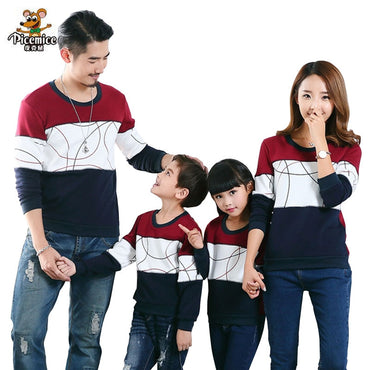 Plus Size Family Matching Outfits New 2019 Casual Autumn Mother Daughter Father Son Boy Girl Cotton Clothes Set Family Clothing