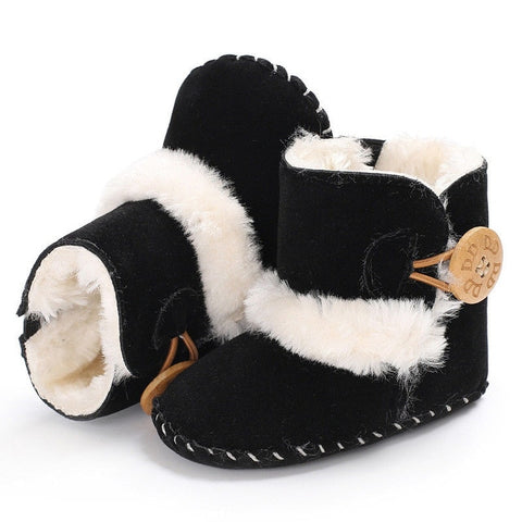 Baby Girl Boy Snow Boots Winter Half Boots Infant Kids New Soft Bottom Shoes